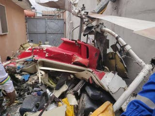 Breaking: Helicopter crashes into Lagos building