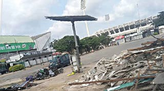 Lagos stadium: Tears, sorrow as FG begins demolition of illegal structures