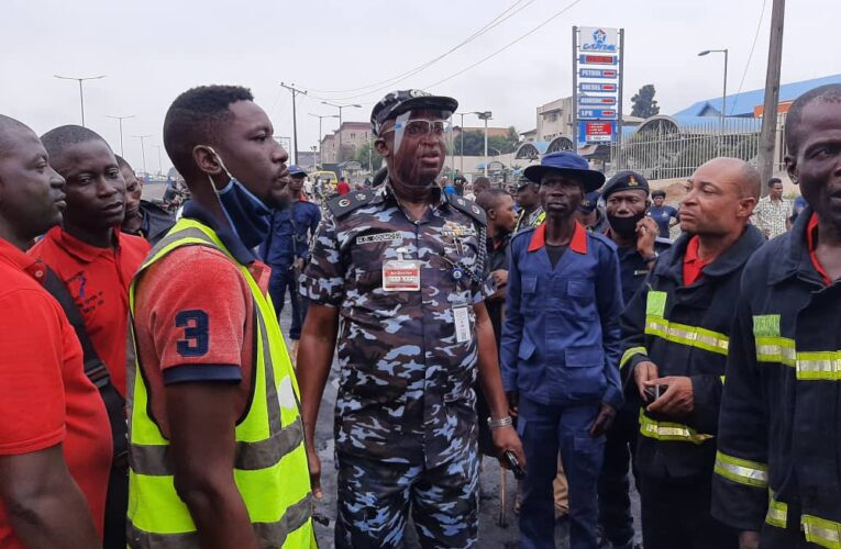 FIRE INCIDENT AT OTEDOLA, LAGOS STATE.