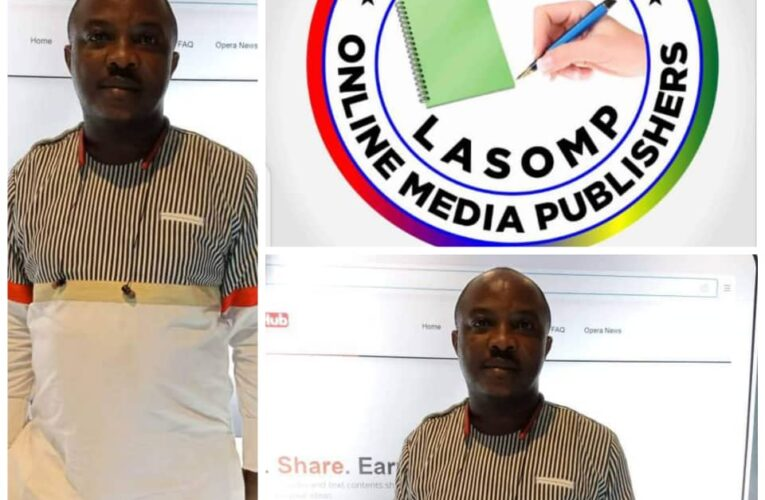 LASOMP Congratulates Sahara Weekly Publisher, Oyewale On His Victory As NAOSRE President.