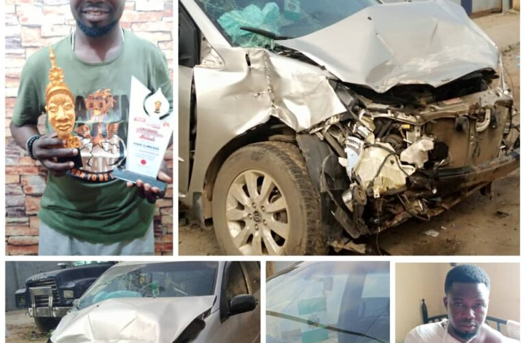 Quadri Olowolagba Escape Death, As He Was Involved In Fatal Accident-
