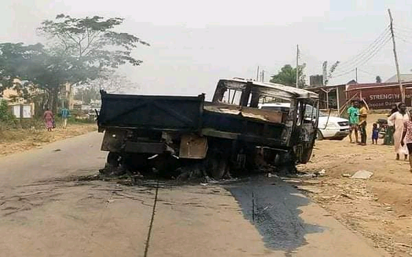 See How Truck Crushed 4 Students, Okada Rider to Death