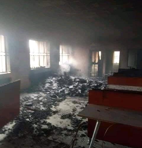 Abakaliki Federal High Court  Razed By Gunmen (Photos)-